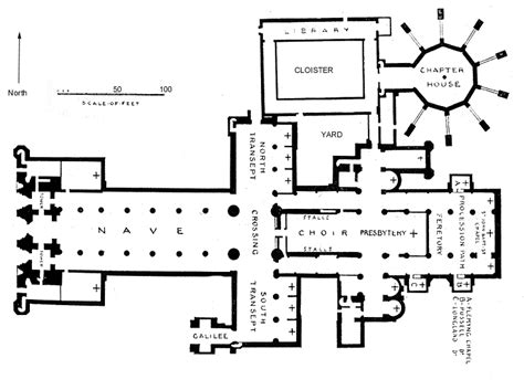 cathedral floor plan monastery floorplans bond english church architecture