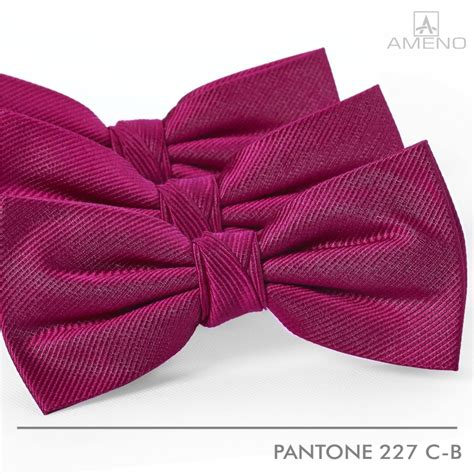 ameno pink magenta silk bow ties in pantone 227c