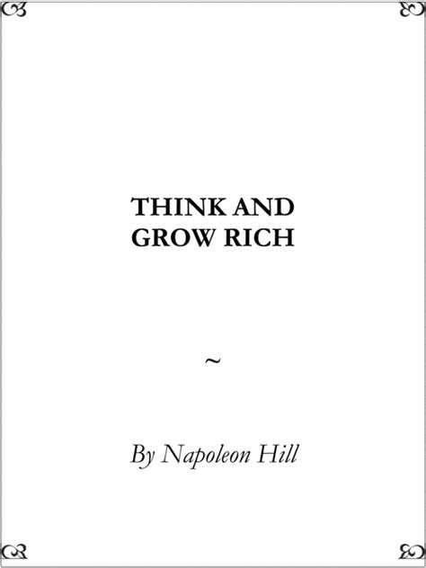 think and grow rich by napoleon hill pdf think and grow rich by napoleon hill download ebooks