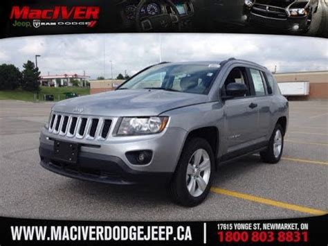 dodge jeep silver 2014 silver jeep compass sport 4x2 newmarket ontario