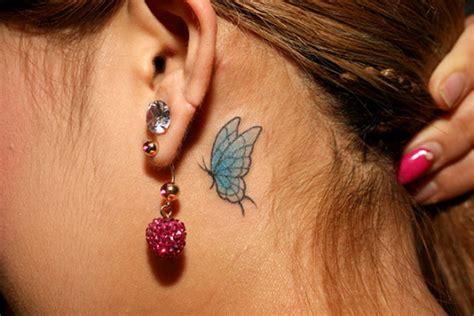 butterfly tattoo inside ear 30 gorgeous ear tattoos ideas and designs for girls blogrope