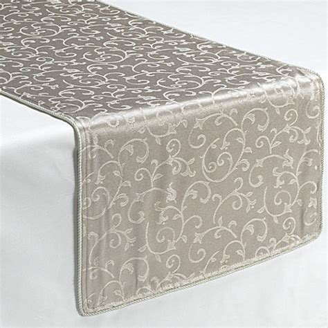 table runners bed bath and beyond buy lenox 174 opal innocence platinum 90 inch decorative