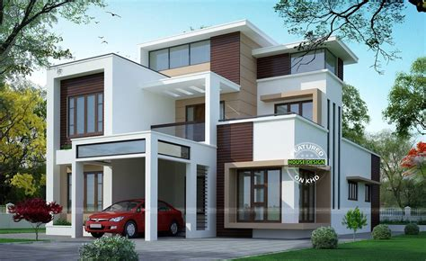 modern two storey house with streamline roof modern flat roof three storey home youtube
