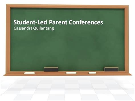 Student Led Parent Conferences Authorstream Parent Conference Powerpoint Template