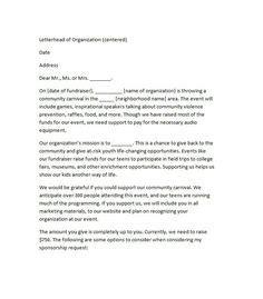 Sponsorship Letter Template 06 Museum Sponsorship