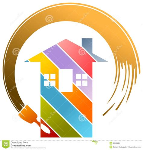 Residential Painting Logo Stock Vector Image 50962224 Painters Logo Templates