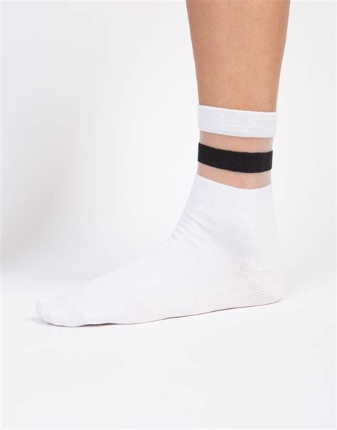 Mesh Socks mesh sporty socks black ankle socks white ankle socks