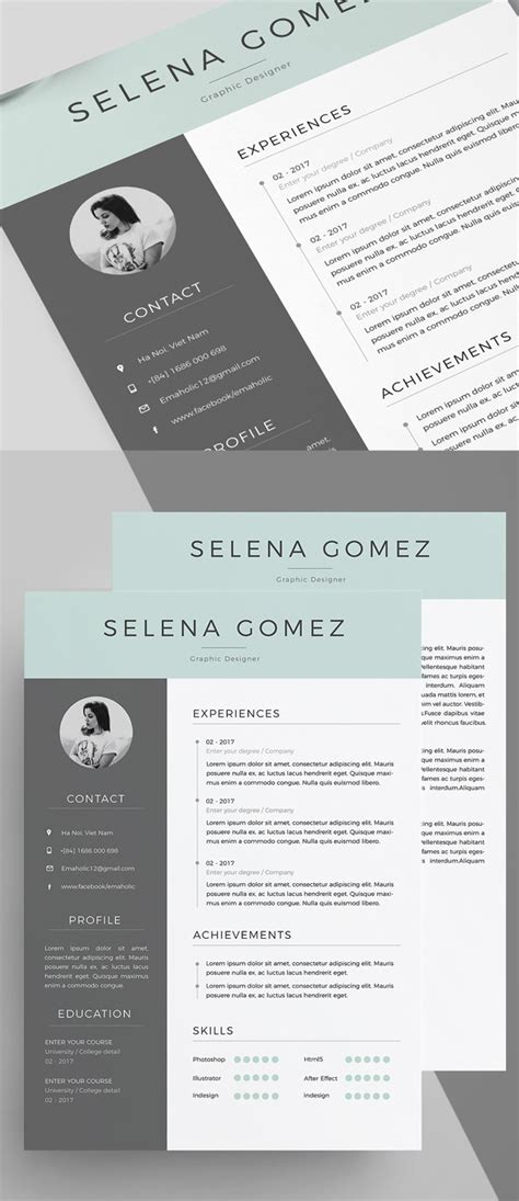 top resume templates 2018 50 best resume templates for 2018 design graphic