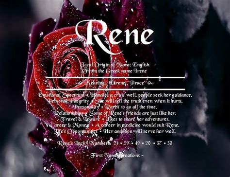 rene  meaning   creations  walk  renee names  meaning