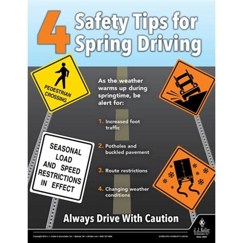 safety tips for spring driving motor carrier safety poster