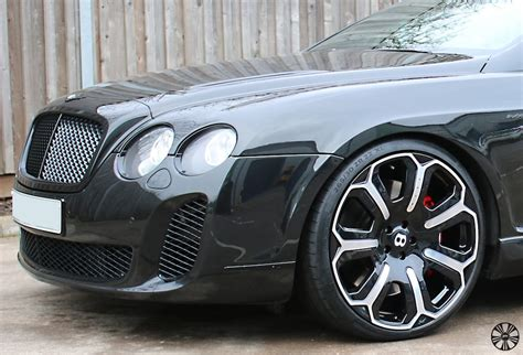 bentley wheels bentley continental gt installed with kahn dark mist