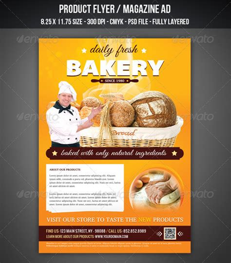 29 bakery flyer templates psd vector eps jpg download