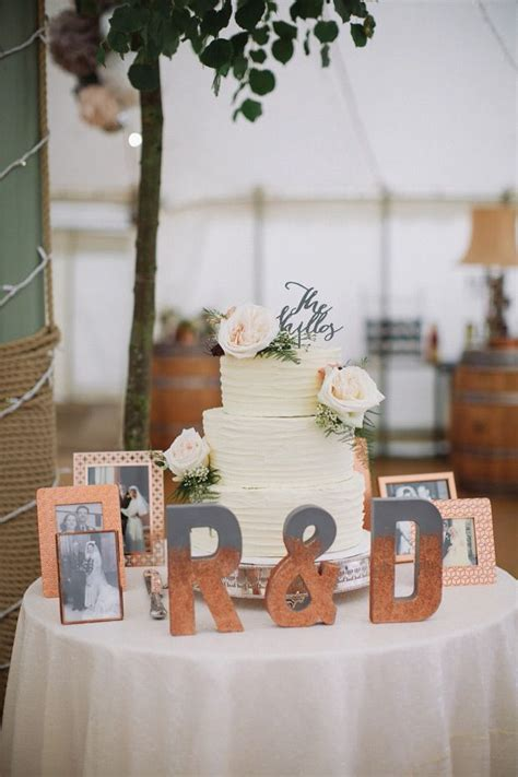 Simple Cake And Punch Wedding Reception by Copper Sparkle Dom S Country House Wedding