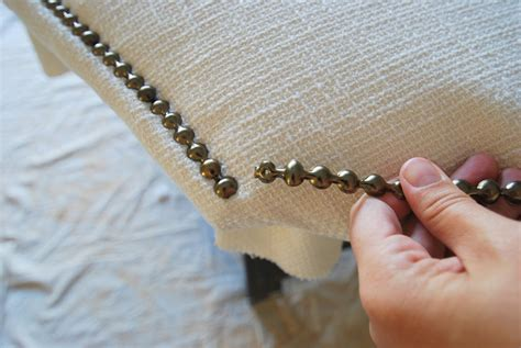 nail trim headboard diy make this diy upholstered headboard with nailhead trim