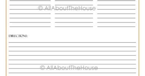 Monogram Recipe Card Template by Monogram Recipe Sheet Editable Recipe Card Preppy Template
