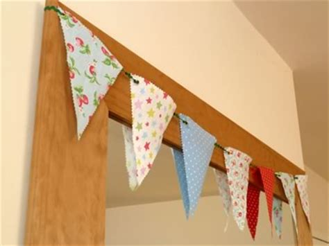 decorative bunting easy  sew fabric banner bunting