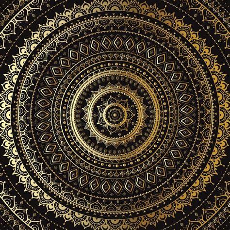 Muster Indisch by Gold Mandala Indische Dekoratives Muster Vektorgrafik