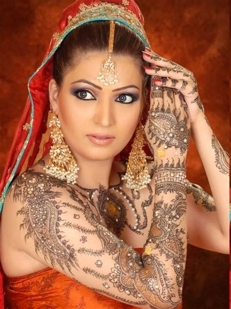 henna tattoo indian bride bridel fashion trend and fashion arabic beautiful