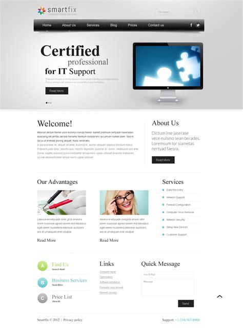 joomla themes computer repair computer repair joomla template 40142