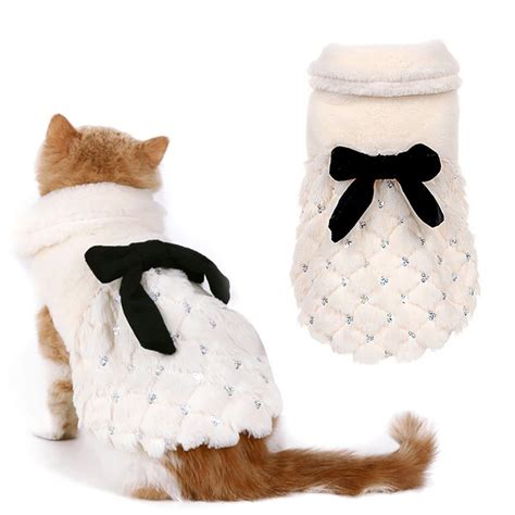 cat clothes pet clothing luxury fur coat winter small cat
