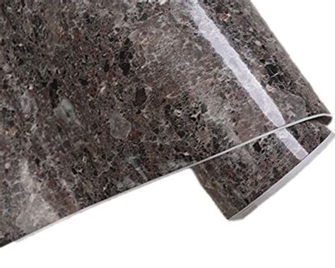 Vinyl Countertop Cover by Brown Granite Look Marble Gloss Vinyl Self Adhesive