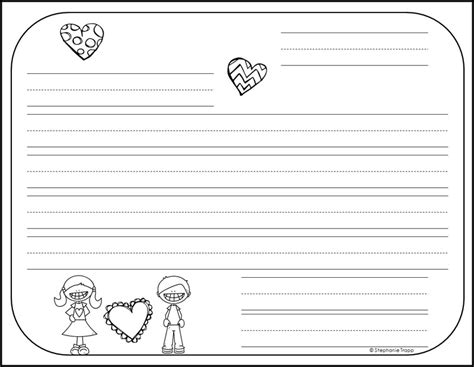 write friendly letter printables primary