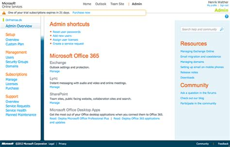 Office 365 Exchange Portal Performing A Staged Exchange Migration To Office 365