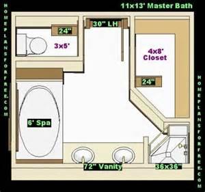 Free Bathroom Plan Design Ideas   Master Bathroom Plans/Master Bathrooms 11x13 Back