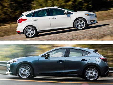 nissan mazda 3 ford focus vs mazda mazda3 which hatch is better