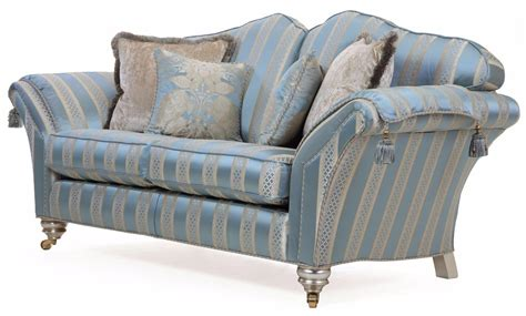 Silk Sofa by Beckingham 2 5 Seat Sofa In Blue Silk Fabric Sofas In