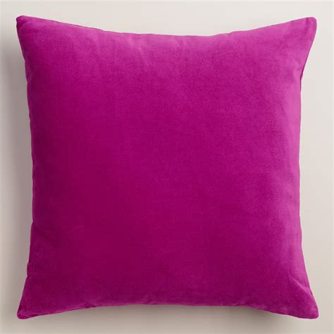 Velvet Throw Pillows Aster Velvet Throw Pillow World Market