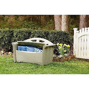 rubbermaid patio storage bench 3764 declutter your patio with an outdoor storage bench