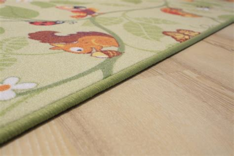 teppich dschungel kinder teppich spielteppich jungle velours gr 252 n 200x150 cm