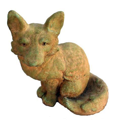 Fox Garden Statue by Cast Fox Garden Statue Weathered Bronze Gnfox Wb