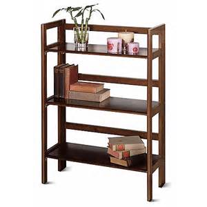 Folding Wooden Bookshelves Wood Folding 3 Shelf Bookcase Finishes Walmart