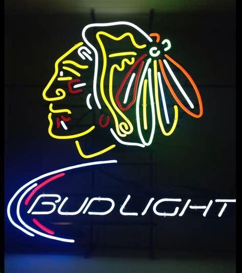 chicago blackhawks neon light 2017 fs neon sign bud light chicago blackhawks handcrafted