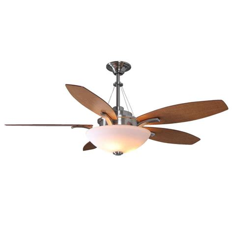 60 ceiling fan with remote hton bay brookedale 60 quot ceiling fan brushed nickel remote bowl dome ebay