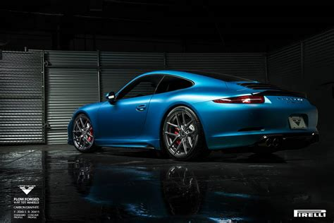lowered porsche 911 porsche 991 carrera s lowered on v ff 101 vorsteiner