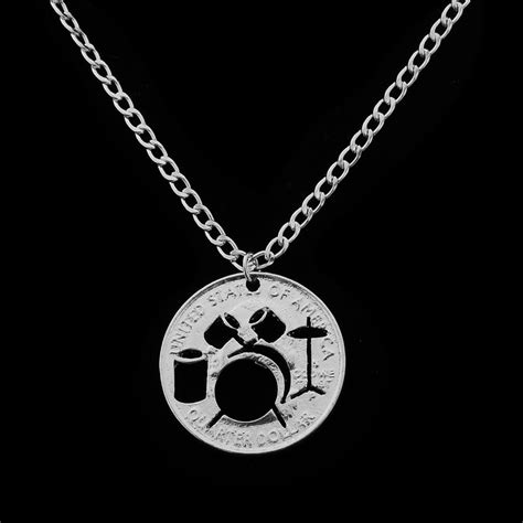 5 Great Jewelry Gifts by Hollow Drum Kit Necklace Rock And Roll Jazz Band