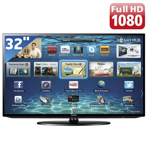 Tv Samsung Smart Tv 32 tv 32 quot led samsung s 233 rie eh5300 un32eh5300gxzd hd