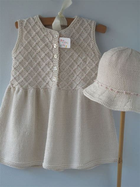Handmade Knitted Baby Clothes - baby dress baby clothes handmade knit smocked dress