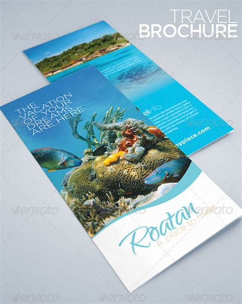 travel and tourism brochure templates free best template tri fold