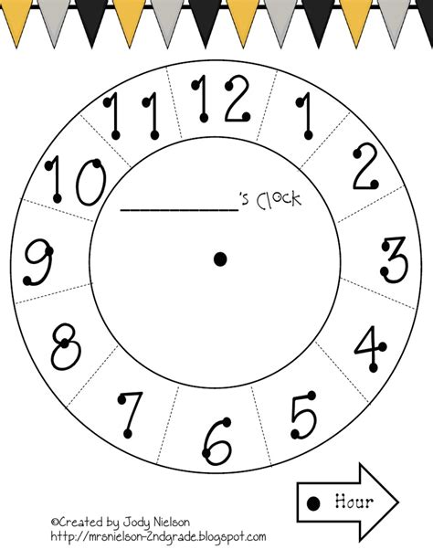 How To Make Clock With Paper Plate - paper plate clock template pdf teaching maths