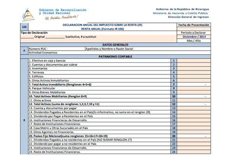 ejemplo formato de la presentacion de la declaracion anual 2015 consultas de inter 233 s dgi declaraci 243 n anual del ir 2013