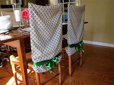 Diy Chair Covers - no sew pillow chair covers