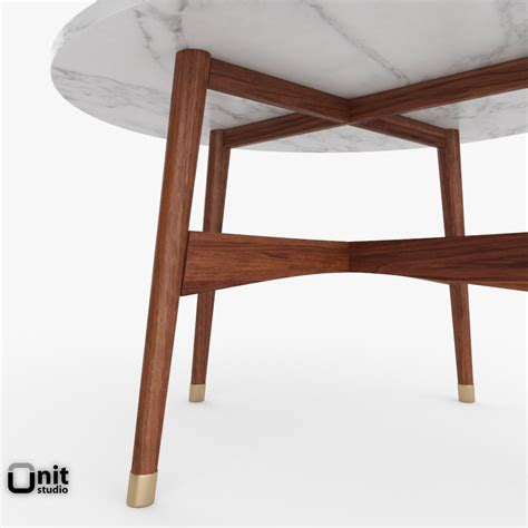 reeve mid century coffee table by west elm 3d model