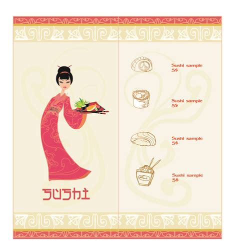 vector japan sushi menu templates 03 vector cover