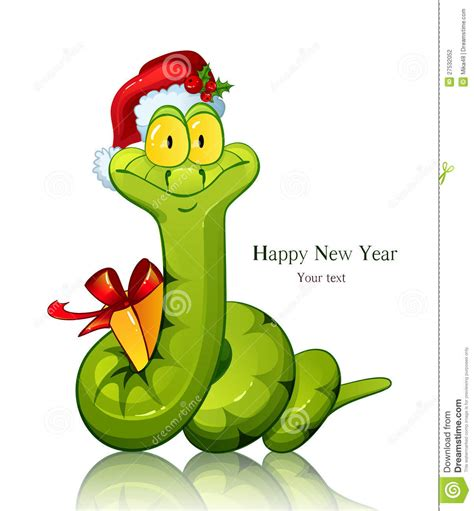 new year and snake new year snake stock photography image 27532052
