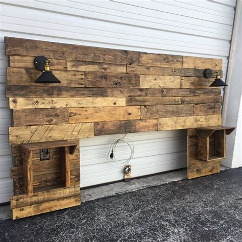 king size headboard with lights rustic headboard rustic lights headboard king size
