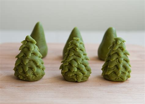marzipan christmas trees thirsty for tea
